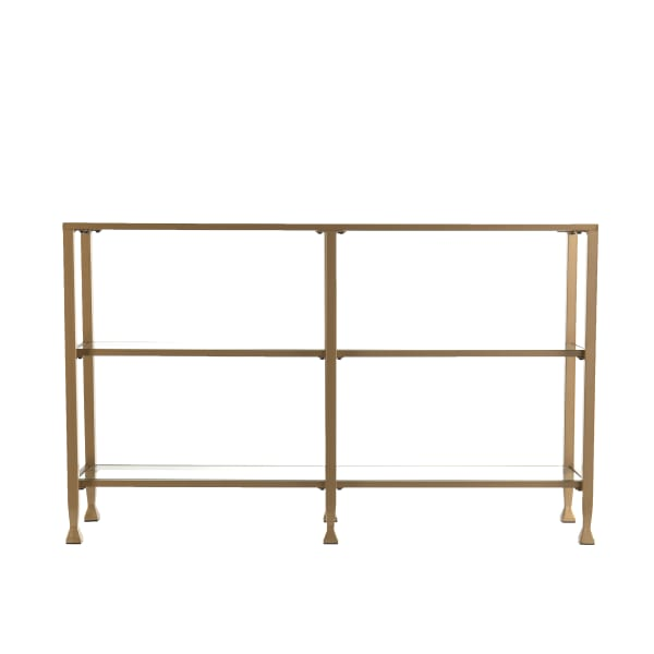 Simple Glam Metal and Glass Console Table