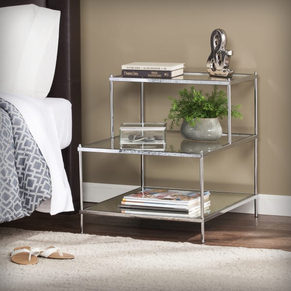 Henderson Chrome Mirrored Accent Table