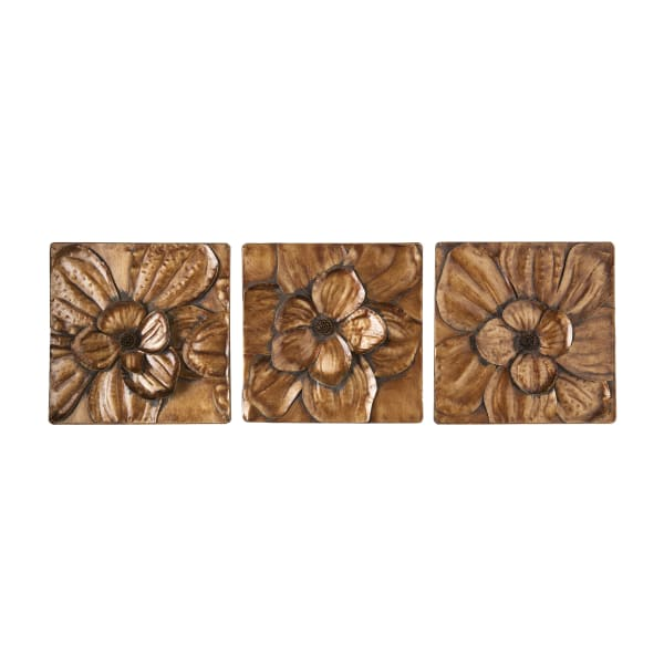 Paulo Gold Set of 3 Pieces Wall Panels