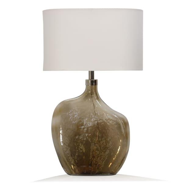 Amber Art Glass Table Lamp