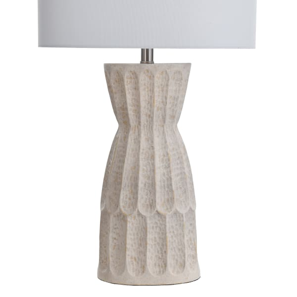 Transitional Ivory Hammered Table Lamp
