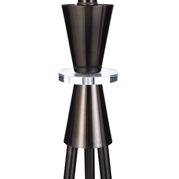 Round Black Nickel Metal Black Floor Lamp