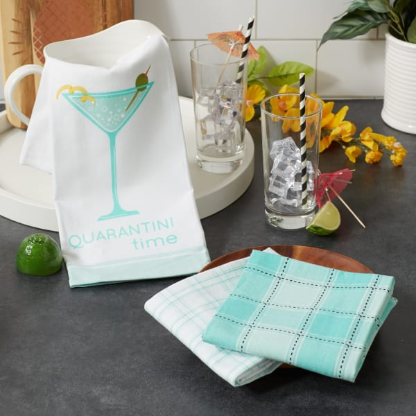 Quarantini Time 3 Piece Dishtowel