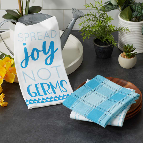 Spread Joy Not Germs 3 Piece Dishtowel