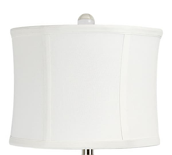 Clear Crystal Polished Nickel Set of 2 Table Lamps
