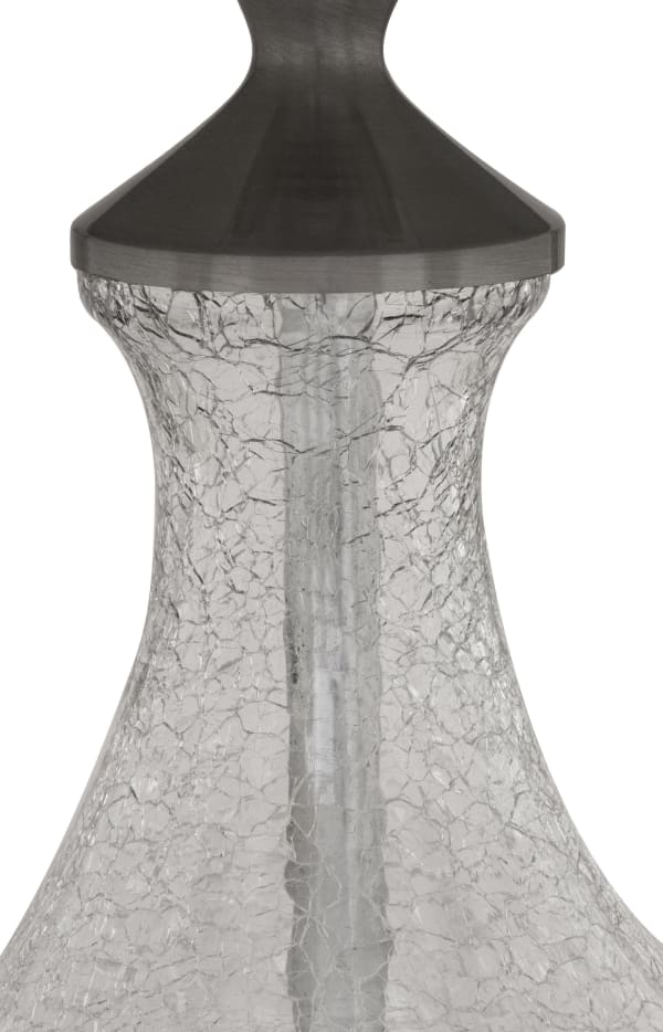 Clear Crackle Glass Accent Table Lamp