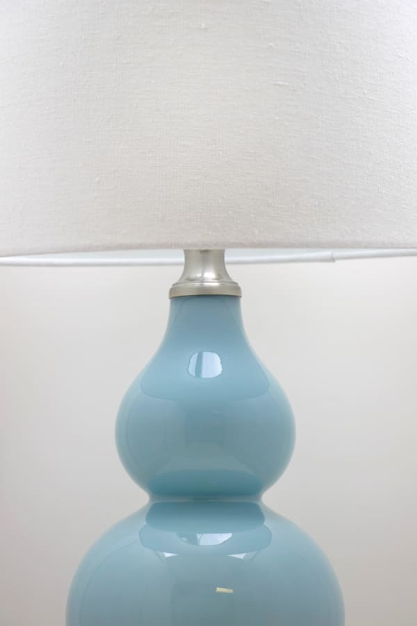Blue Glass Set of 2 Table Lamps