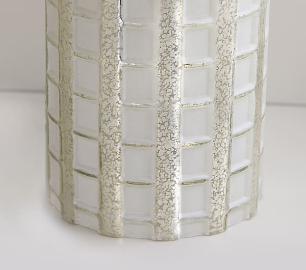 White Wash Glass Set of 2 Table Lamps