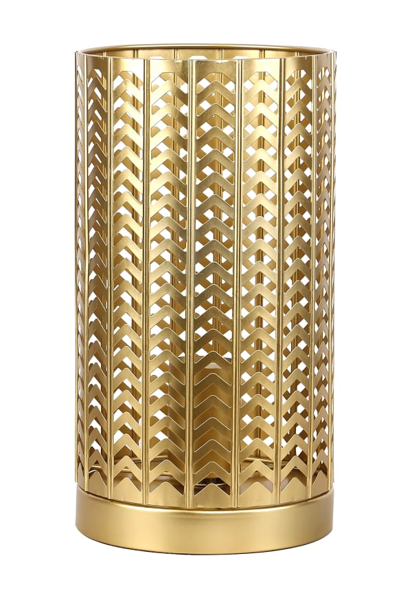 Metal with Chevron Design Accent Table Lamp