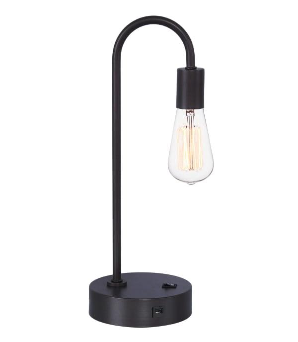 Black Industrial Desk Lamp