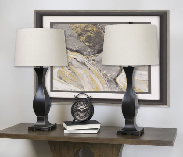 Oil-Rubbed Bronze Set of 2 Table Lamps