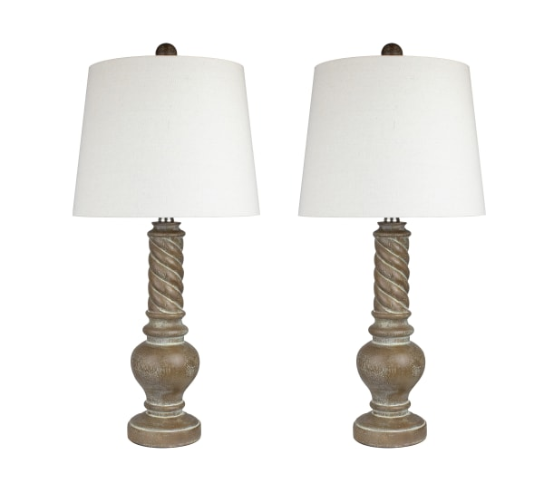 Acid Burro Poly Resin Set of 2 Table Lamps