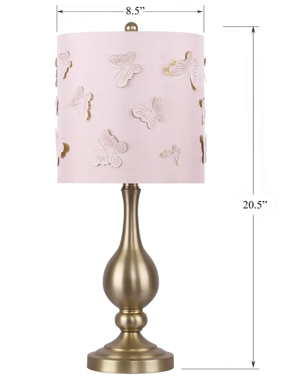 Gold Plated Set of 2 Table Lamps