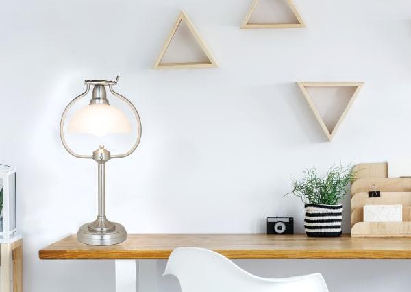 Brushed Nickel Table Lamp