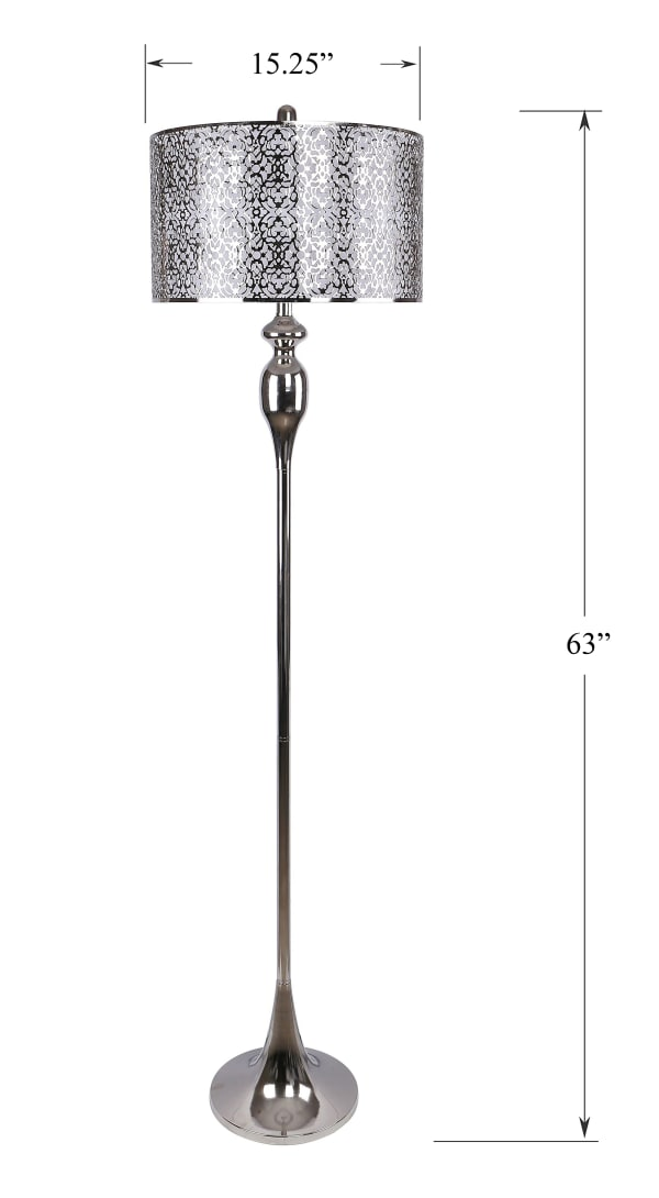 Polished Nickel Floor Lamp