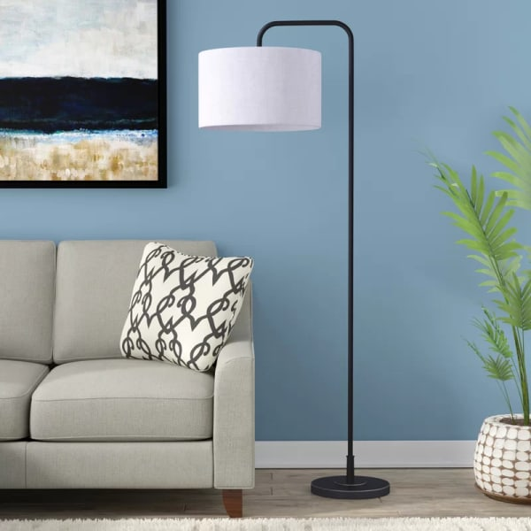 Oiled Rubbed Bronze Finish Arc Floor Lamp