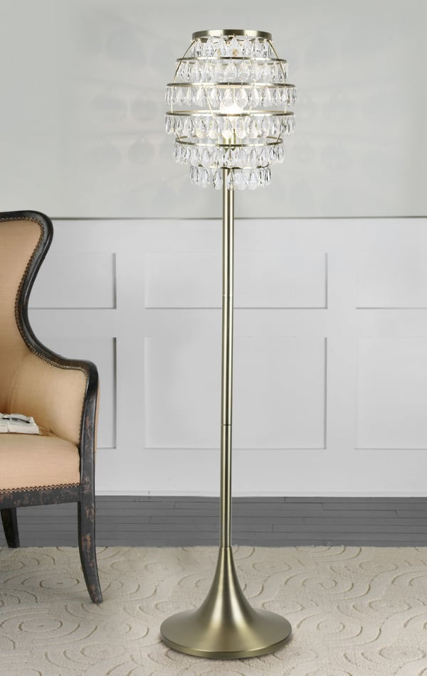 Plated Gold Modern Glam Floor Lamp