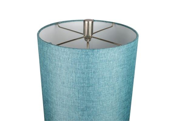 Brushed Nickel Metal Stick Floor Lamp
