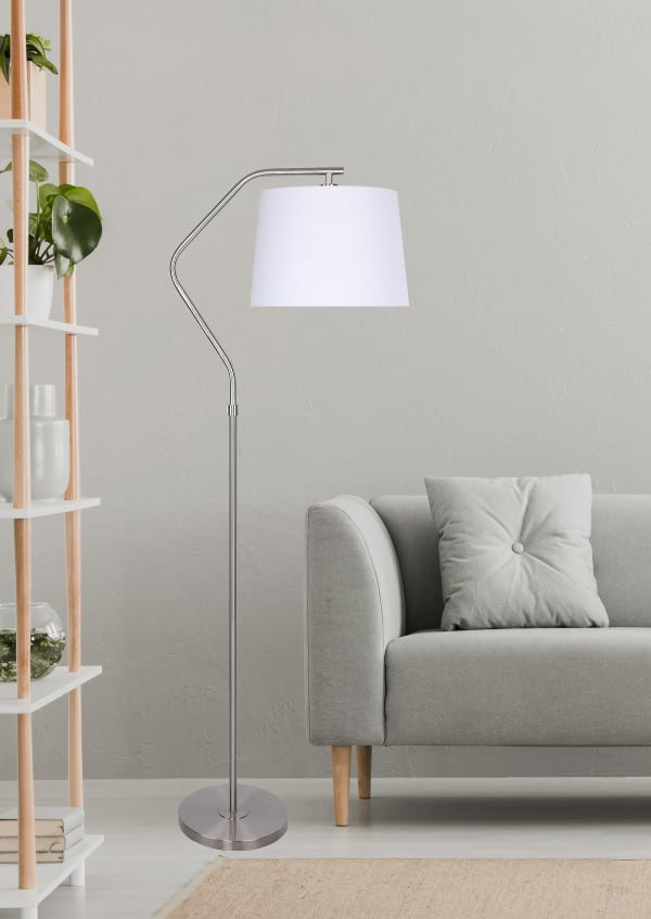 Brushed Nickel With Angled Base Design Floor Lamp Pier 1