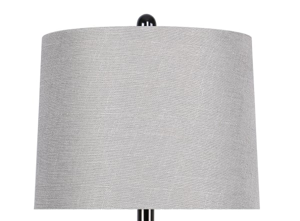 Curvy Gun Metal Set of 2 Table Lamps