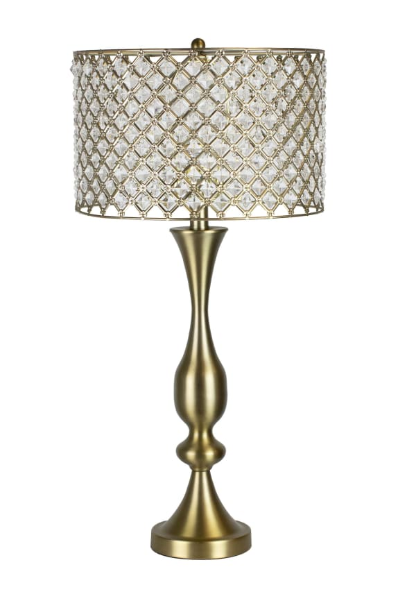 Plated Gold Table Lamp