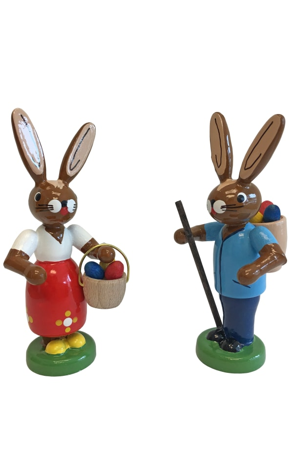 Richard Glaesser Bunnies Set of 2 Easter Figures