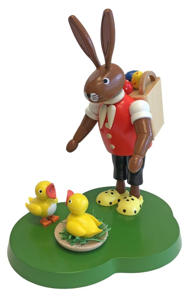 Richard Glaesser Bunny With Basket Easter Figure
