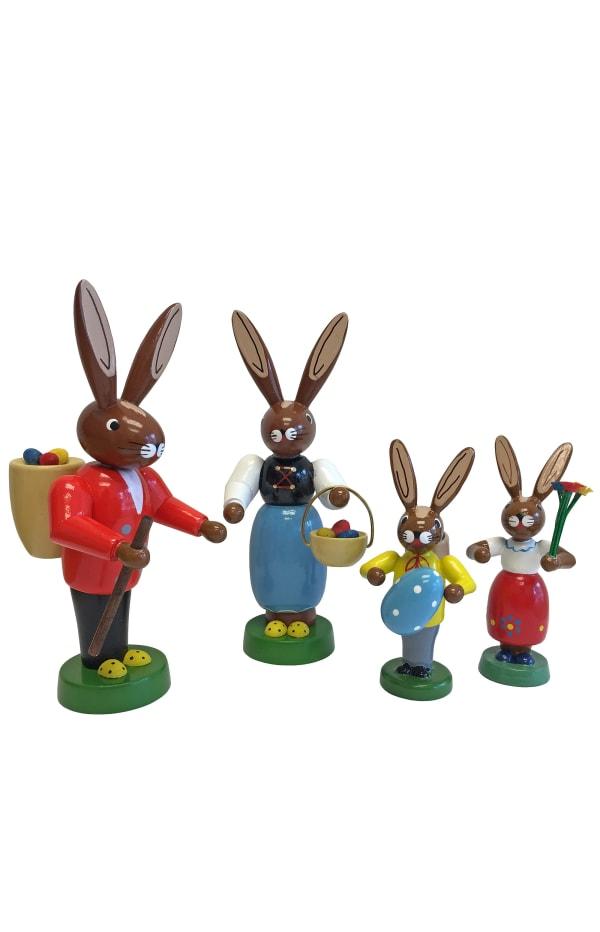 Richard Glaesser Bunny Family Set of 4 Easter Figures