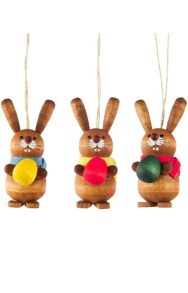 Dregeno Rabbits Set of 3 Easter Ornaments