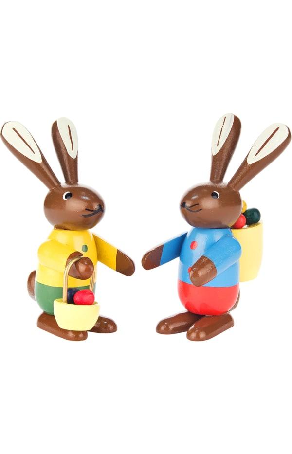 Dregeno Rabbit Couple Easter Figure