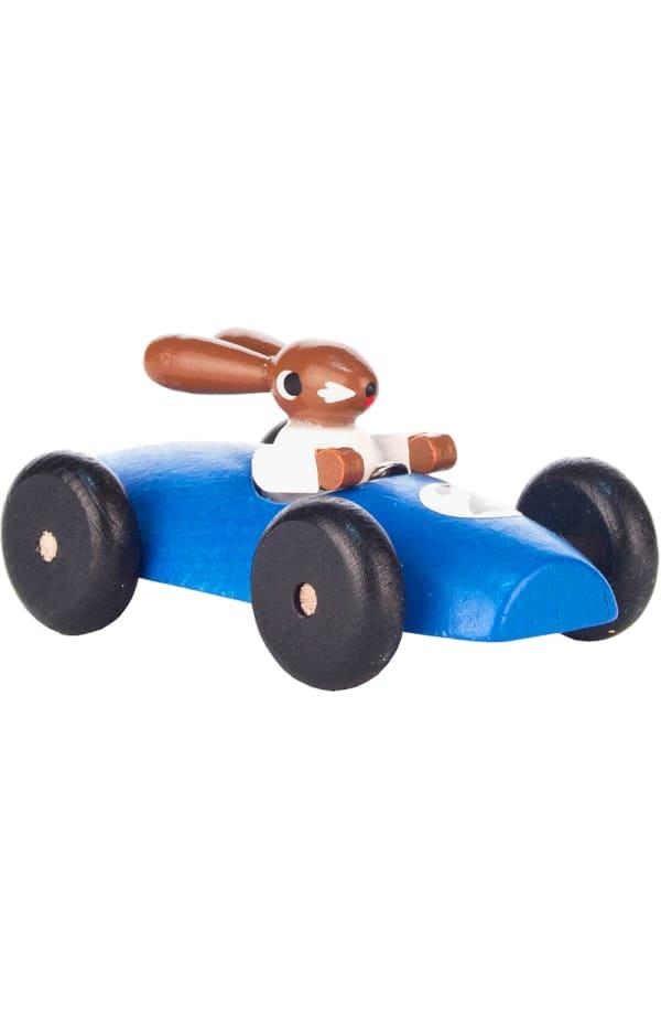 Dregeno Blue Rabbit Car Easter Figure