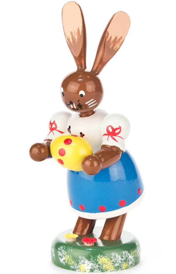 Dregeno Bunny Lady with Easter Egg Easter Figure