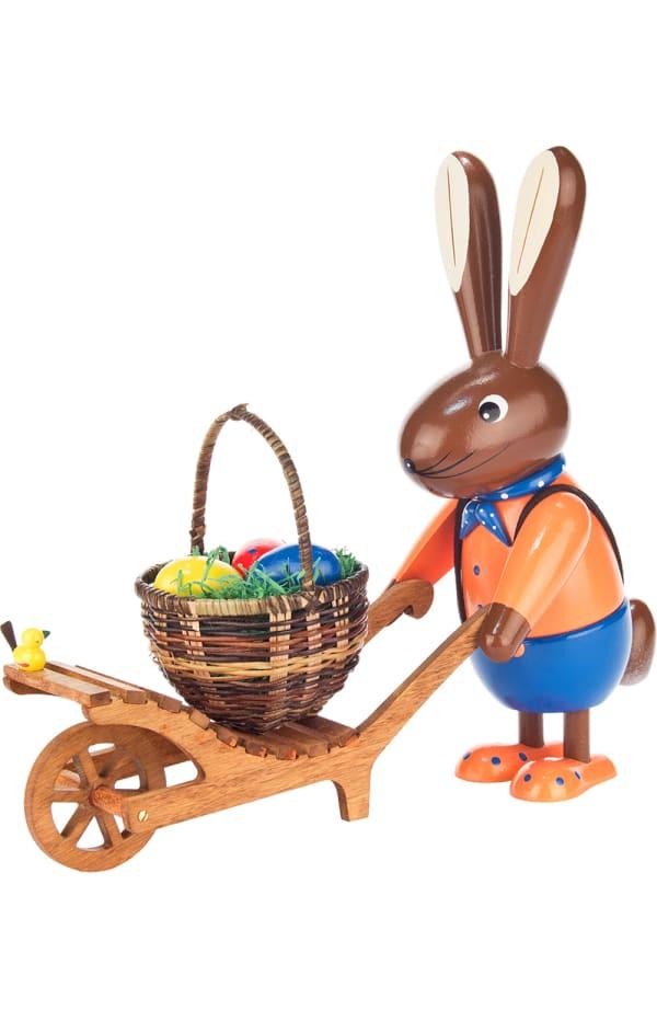 Dregeno Rabbit Wheelbarrow Easter Figure