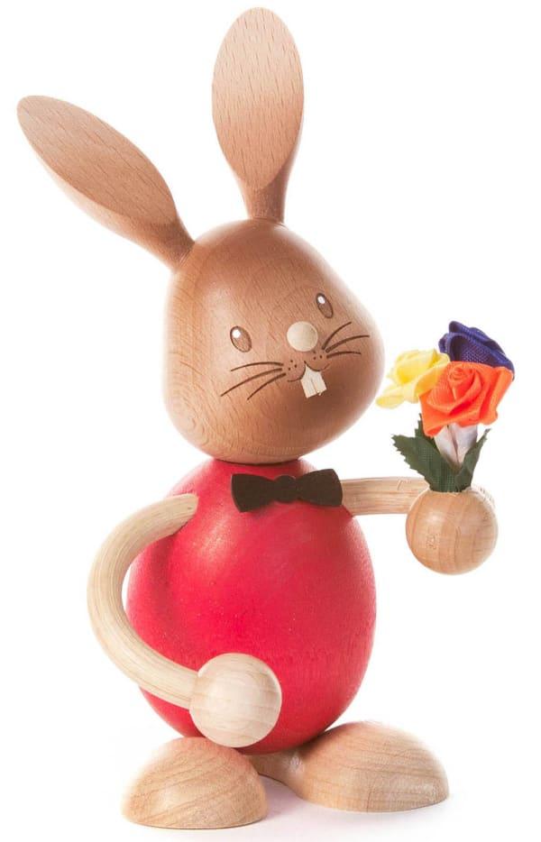 Dregeno Bunny With Flower Bouquet Easter Figure
