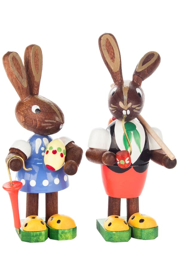 Dregeno Rabbit Couple Easter Figures