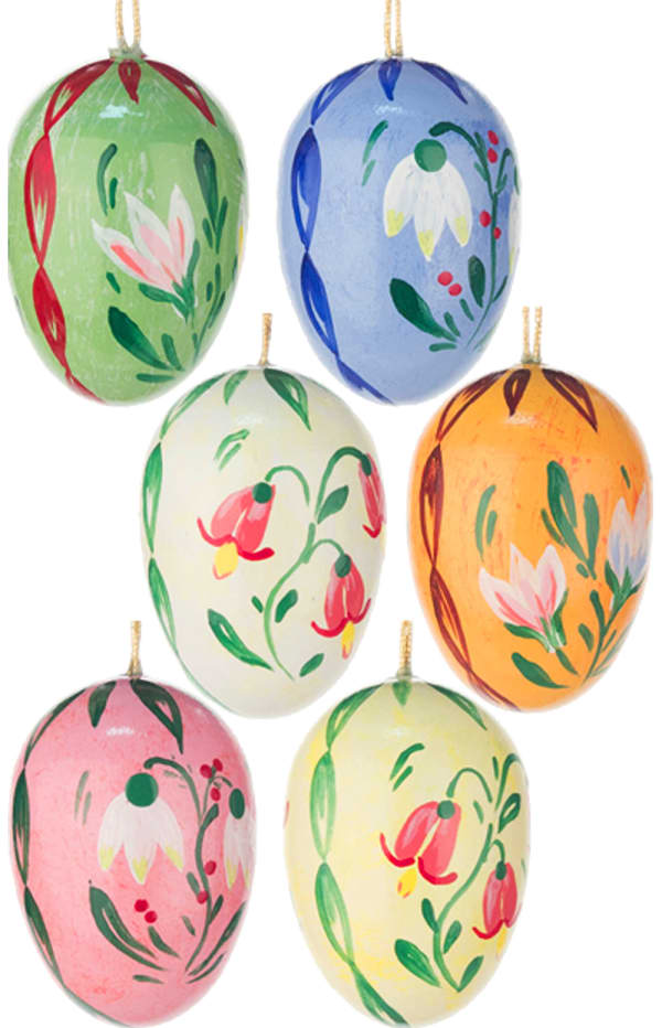 Dregeno Eggs Easter Set of 6 Ornament