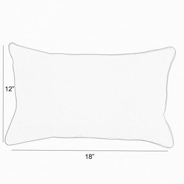 Corded Set of 2 Aqua Blue Lumbar Pillows