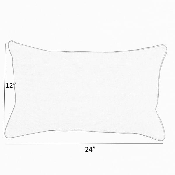 Corded Set of 2 Dark Blue Lumbar Pillows