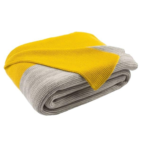 Sun Kissed Knit Yellow Throw
