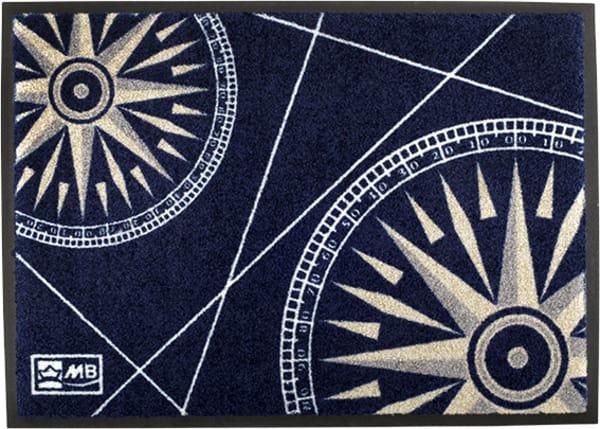 Welcome On Board Compass Non-Slip Door Mat