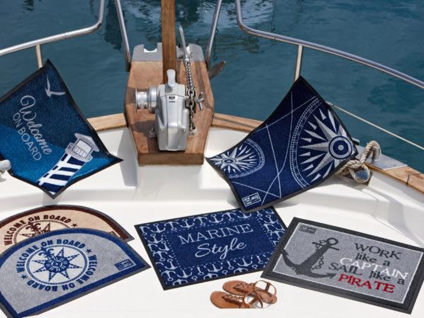 Welcome On Board Marine Style Non-Slip Door Mat