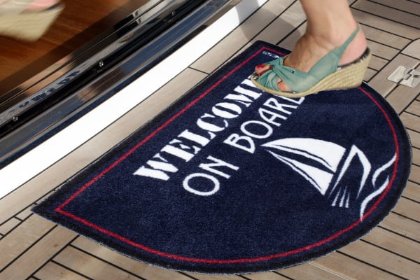 Welcome On Board Non-Slip Door Mat