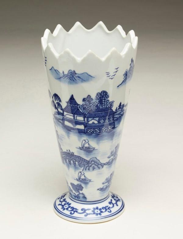 Blue Pagoda Vase