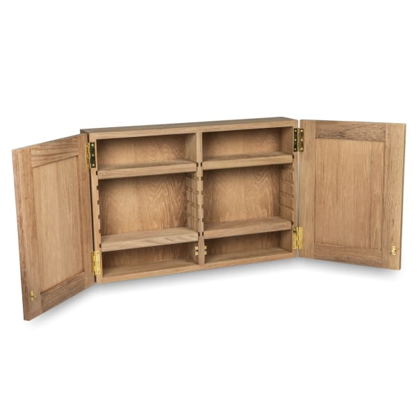 Large Solid Teak Medicine Chest