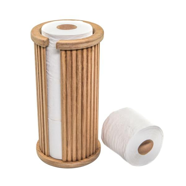 Solid Teak Toilet Paper Rack