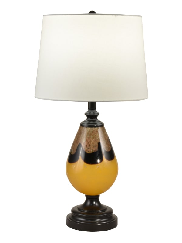 Keithia Hand Blown Art Glass Table Lamp