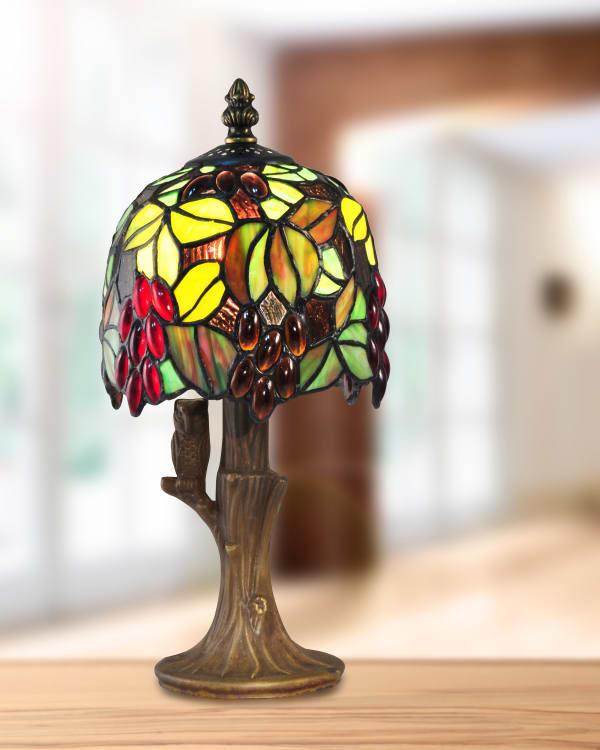 Grape Vine Tiffany Accent Table Lamp