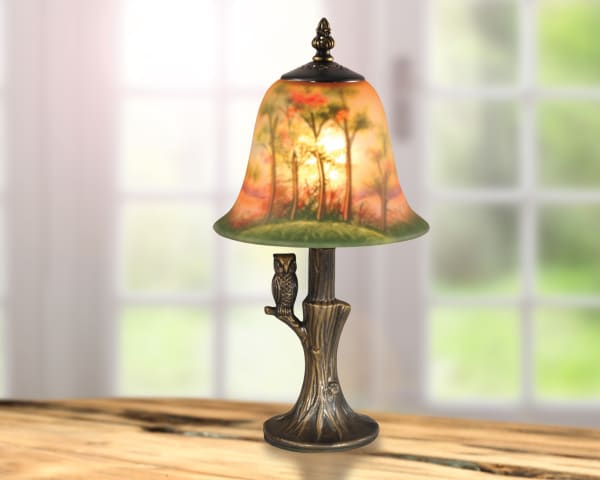 Owl Hand Painted Accent Table Lamp