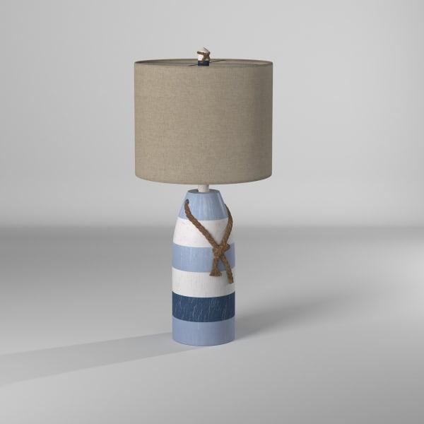 Blue Stripe Finish Table Lamp
