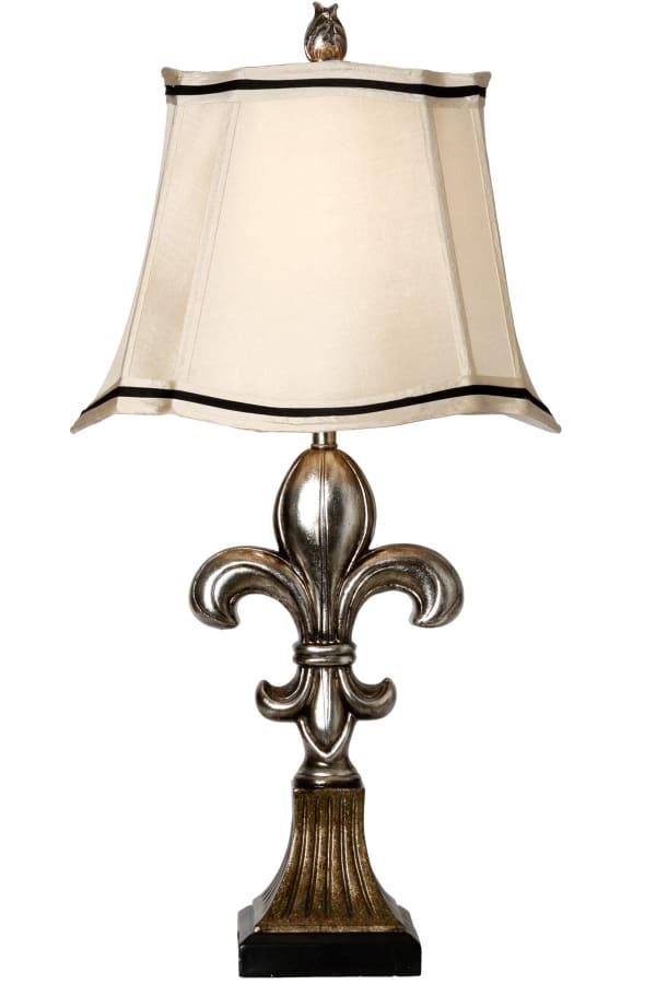 Comono Antique Silver and Bronze Finish Table Lamp
